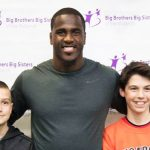 Tampa Bay Buccaneer Lavonte David with Littles from BBBS of the Midlands