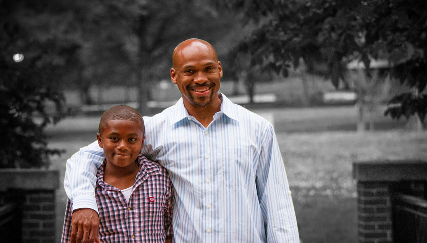 Big Brother Cynric and Little Brother Kameron