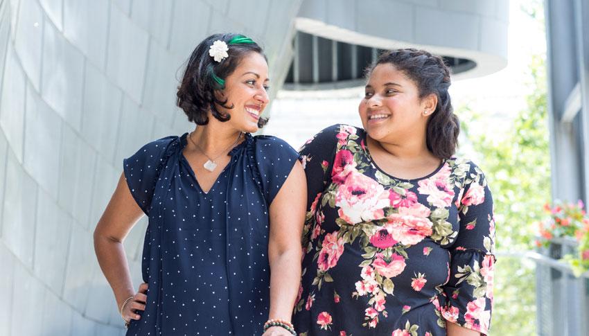 Big Sister Myra and Little Sister Saleen